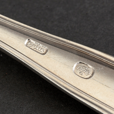 A set of 72 ps silver cutlery, cohr, denmark, mid 20th century