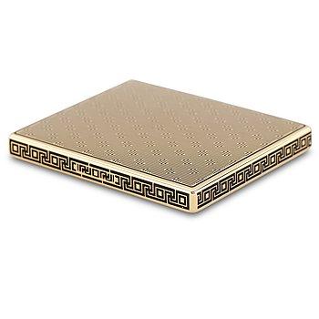 42. ETUI, 18K guld, svart emalj. Frankrike.