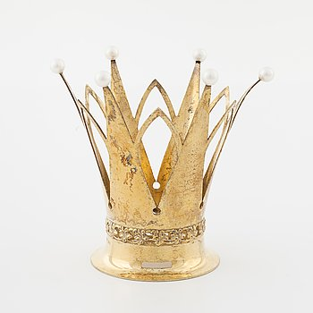 A bridal crown set with cultured pearls by Ceson, Göteborg, 1965.