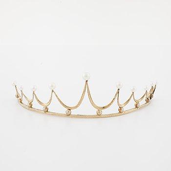A cultured pearl tiara by Ceson, Göteborg, 1959.
