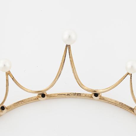 A cultured pearl tiara by ceson, göteborg, 1959