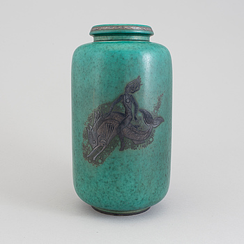 A Wilhelm Kåge 'Argenta' vase, for Gustavsberg.