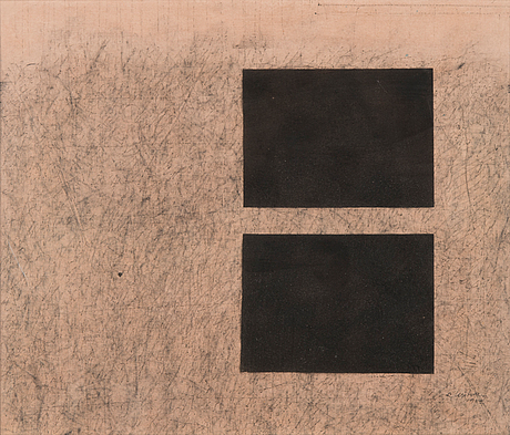 Reino hietanen, mixed media, signed and dated 1982