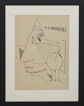 MAX ERNST, litografi, signerad i trycket.