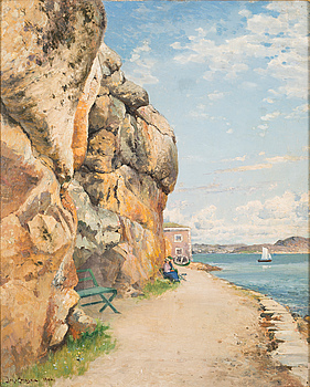 JOHAN ERICSON, oil on panel, signed Joh. Ericson and signed 1906.