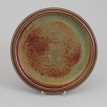 WILHELM KÅGE, a 'Farsta' stoneware dish from Gustavsberg studio.