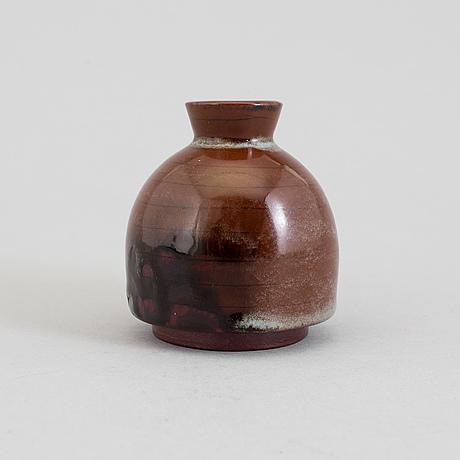 Wilhelm kÅge, a 'farsta' stoneware vase from gustavsberg studio.