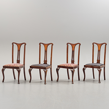 Four mahogany chairs circa 1900.