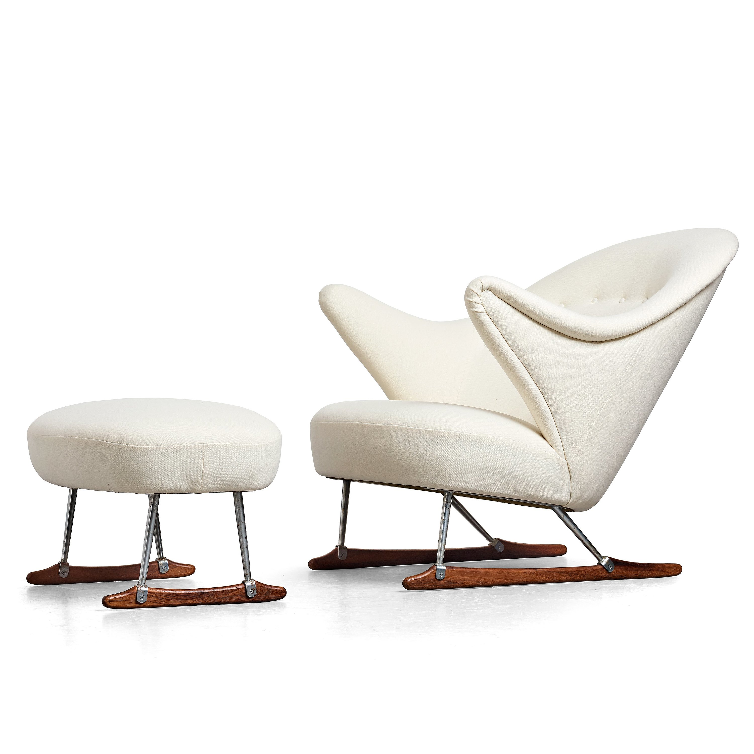 Pleasing Borge Mogensen A Model Nr 160 Easy Chair And Ottoman By Dailytribune Chair Design For Home Dailytribuneorg