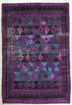 ULLA SCHUMACHER-PERCY, a hooked rug, designed in 1949, wowen in 1957, 296 x 199.