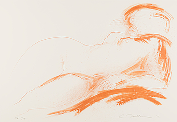 LAILA PULLINEN, litografi, signerad, daterad -93, numrerad 8/15.