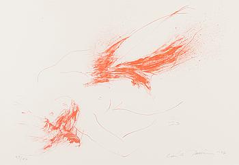 LAILA PULLINEN, litografi, signerad, daterad -97, numrerad 29/50.