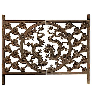 247. Harald Wadsjö, a Swedish Grace cast iron radiator screen, Näfveqvarn, 1920's, the drawing for the design is dated 1929.