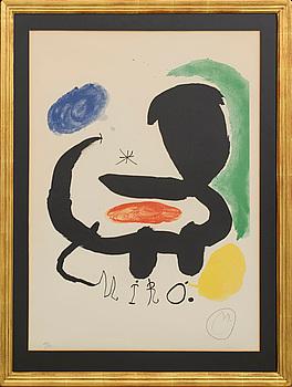 JOAN MIRÓ, färglitografi, signerad och numrerad 29/75.