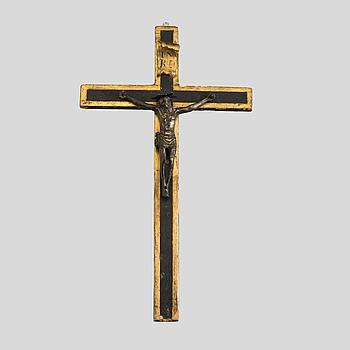 CRUCIFIX 18/19th Century. wood and bronze.