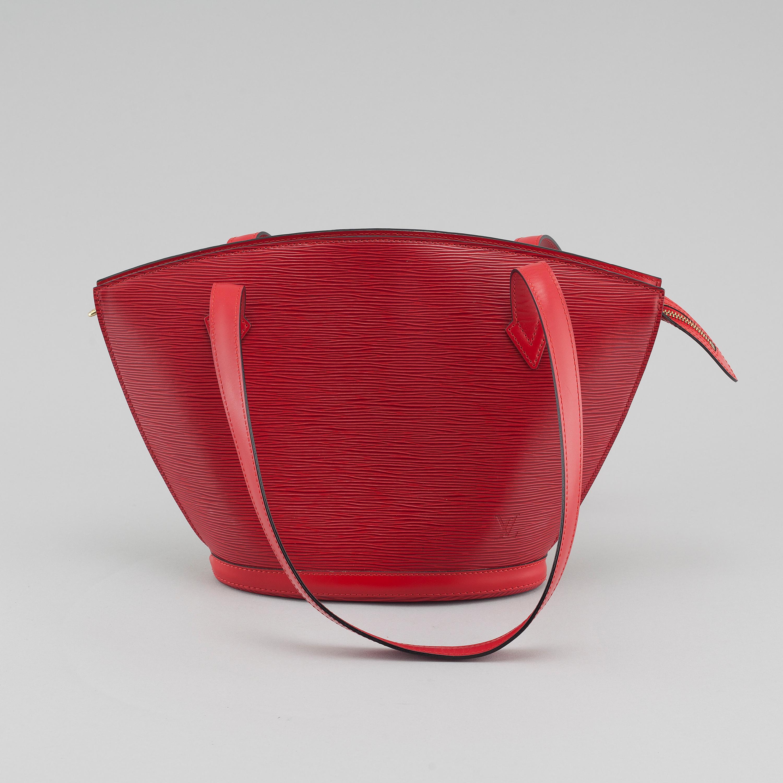 4ca551ae LOUIS VUITTON, a red Epi Leather Saint Jacques PM Bag. - Bukowskis