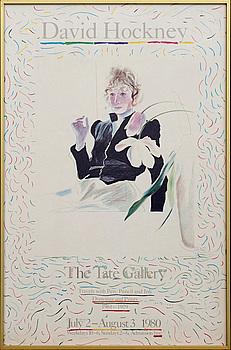 UTSTÄLLNINGSAFFISCH, David Hockney, The Tate Gallery 1980.