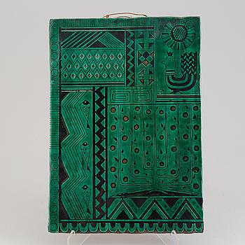 DAGMAR NORELL, plakett, keramik, blyertssignerad, 1900-talets andra .