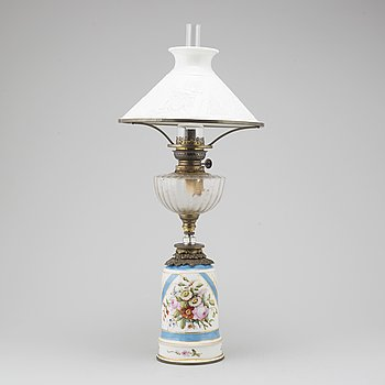 A 19th century table lamp.