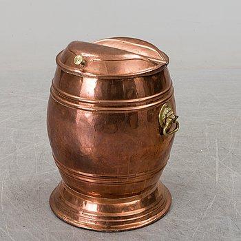 VATTENTUNNA, koppar, sent 1800-tal.
