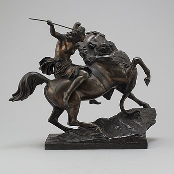 A 19th century metal sculpture.