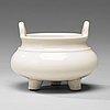 A blanc de chine censer, qing dynasty, kangxi (1662-1722).