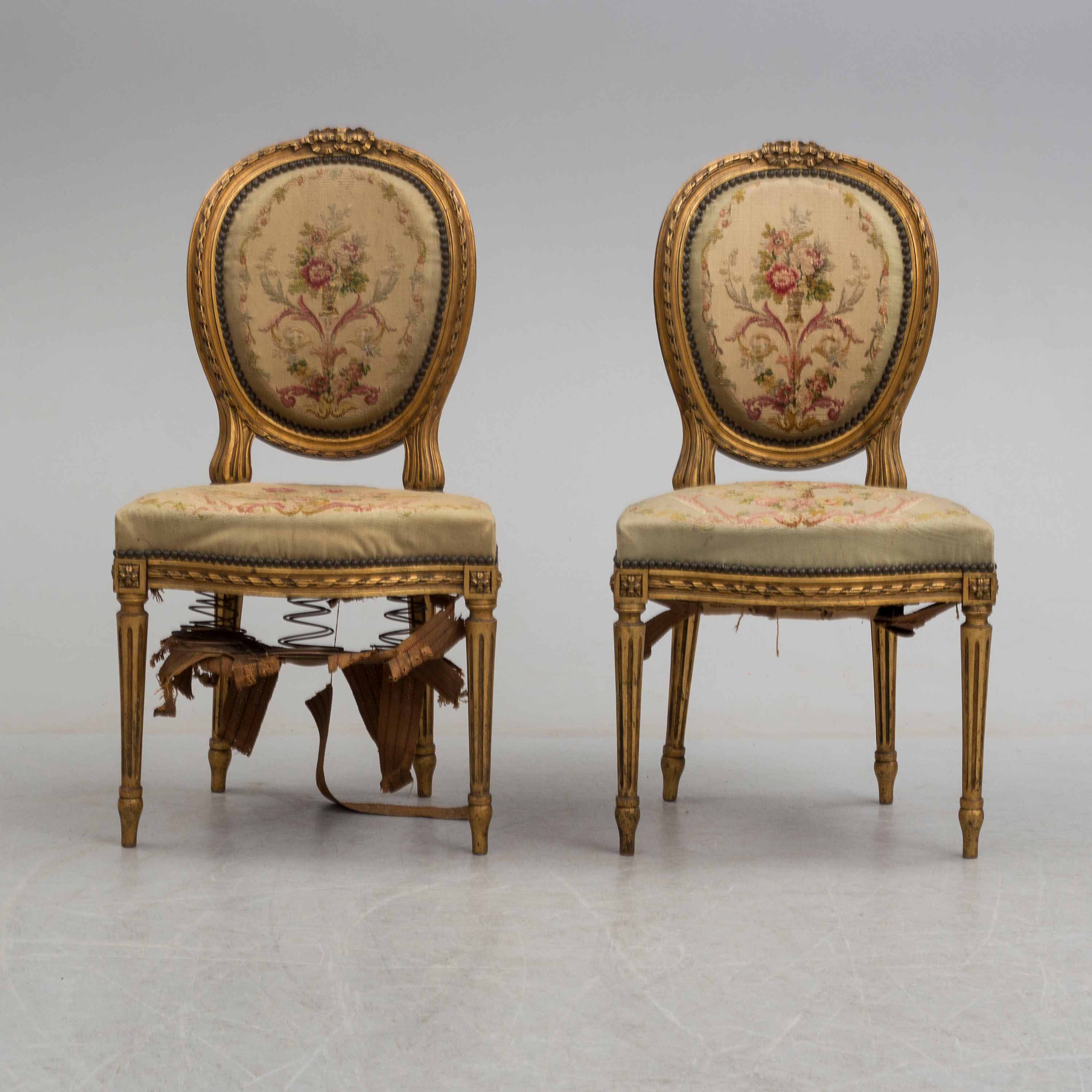 Good Two Unique Chairs In Louis Xvi Style Antiques Antiques