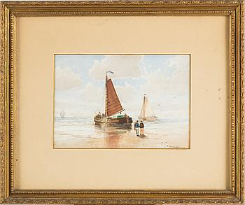 CHRISTIAN FREDRIK SWENSSON, akvarell, signerad.