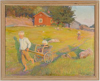 DORA WAHLROOS, olja på duk, daterad  signerad och 1901.