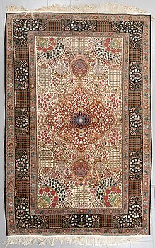 A rug, probably India, old, 289 x 189 cm.