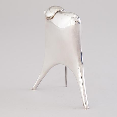 A poul havgaard sculpture, silver. lapponia 1982.