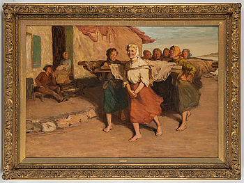ELLA MOSS, olja på duk, signerad och daterad 1905.