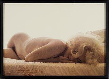 "LEIF-ERIK NYGÅRDS, offsettryck, ""Marilyn Monroe"" signerad med dedikation."