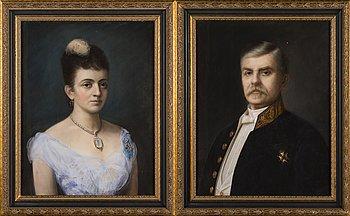 296. PAIR OF PORTRAITS, LOUISE ULRIKA (b. Sparre af Söfdeborg) AND LOUIS DE GEER AF LEUFSTA.