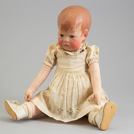 A käthe kruse doll, germany 1930-40s.
