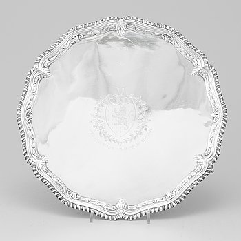 John Carter II möjligen, salver, silver, London 1770.