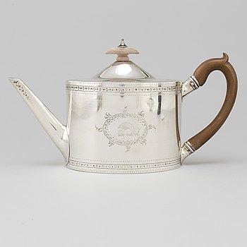 Charles Aldridge och Henry Green, tekanna, silver, London 1786.