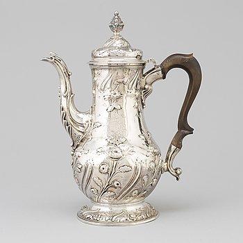 Benjamin Gignac, kaffekanna, silver, London 1763.