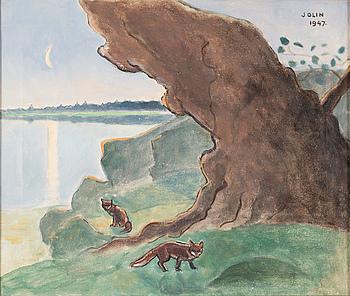 EINAR JOLIN, olja på duk, signerad Jolin och daterad 1947.