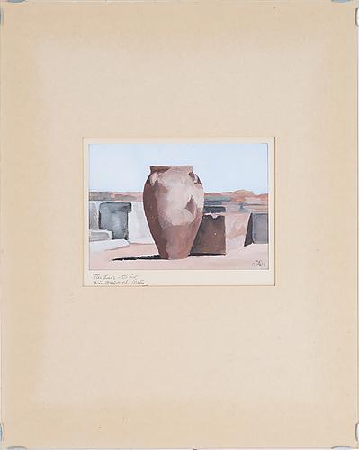Sixten lundbohm, gouache, monogramsignerad och daterad 1968