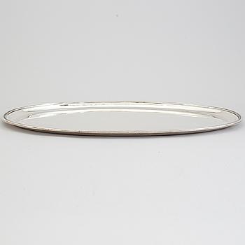 ERIC RÅSTRÖM, a silver tray from Råströms Silver- O Nysilverfabrik, Stockholm, 1950.