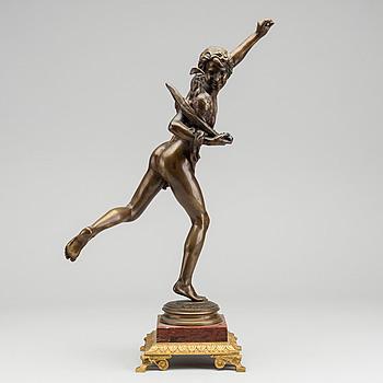 ALEXANDRE FALGUIÈRE, brons, skulptur. Signerad samt gjutarstämpel.
