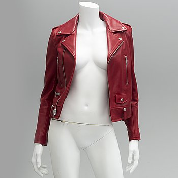 LEATHER JACKET, Saint Laurent, french size 36.