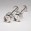 Sigurd persson, a pair of candlesticks, stockholm 1964, silversmith johann wist.