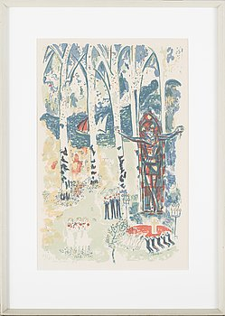 SVEN X:ET ERIXSON, a litograph in color, signed, numbered 72/125 and dated -53.