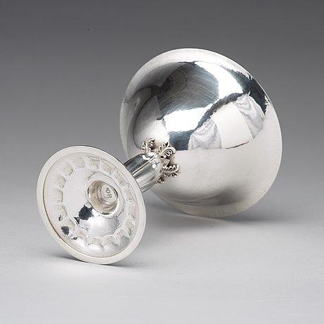 Georg jensen, a sterling bowl on a high stem, copenhagen 1925-32, design nr 446.