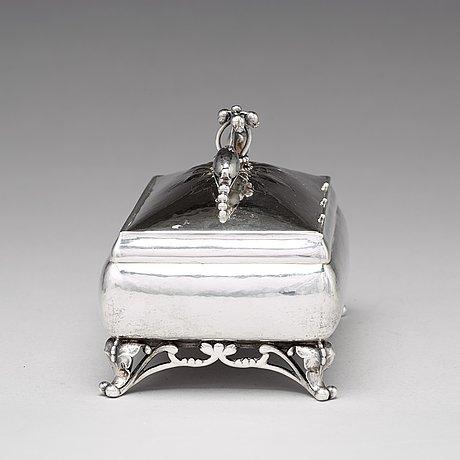 Georg jensen, skrin, köpenhamn 1919-21, 830/1000 silver, design nr 156 c.