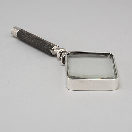 Georg jensen, a sterling silver magnifying glass, denmark 1933 44
