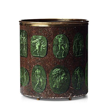 "Piero fornasetti, a ""cammei"" paper basket, milano italy."