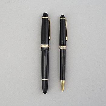 MONT BLANC, pennor, två stycken, 1900-talets andra hälft.